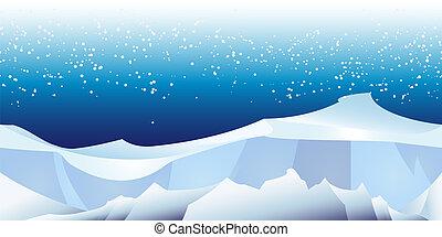 Polarlandschaftsmuster.