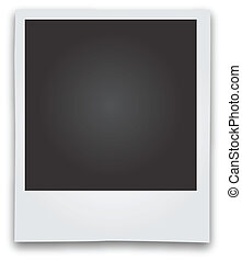 Polaroid Bildrahmenvektor