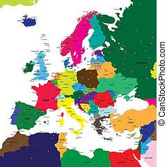 politisch, europa, landkarte
