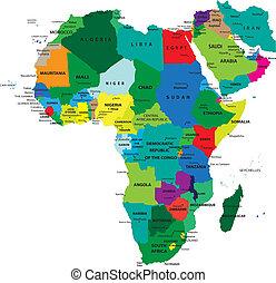 Politische Karte von Afrika