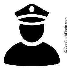 polizei, ikone, -, raster, mann- abbildung