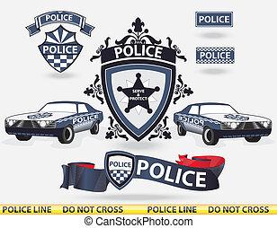 Polizeielemente - Vektor.