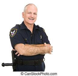 Polizist - lächeln