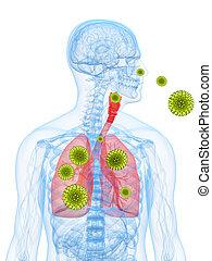 Pollenallergie Illustration