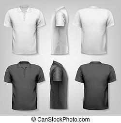 Polo-Shirts mit Mustertextplatz. Vector.