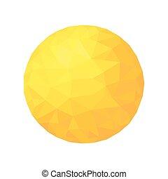 Polygonale Sonne. Goldkugelpartikel.
