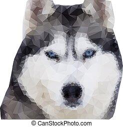 Polygonaler Wolf. Polygonaler Illustrationswolf. Vector Illustration EPS10