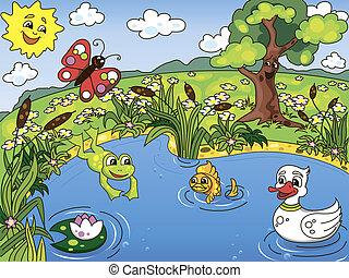 Pond-Leben