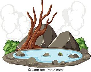 Pond Rock Naturszene.