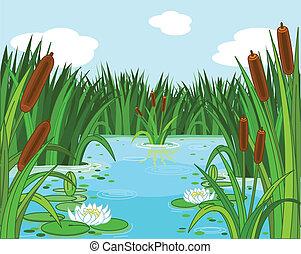 Pond-Szene