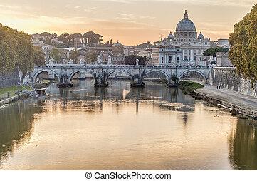 Ponte sant'angelo (Bridge of Hadrian) in Rom, Italien,