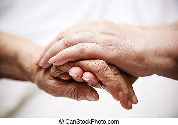 portion, älter, klinikum, erwachsener