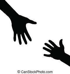 portion, silhouette, hand
