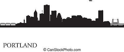 Portland City Skyline Silhouette Hintergrund
