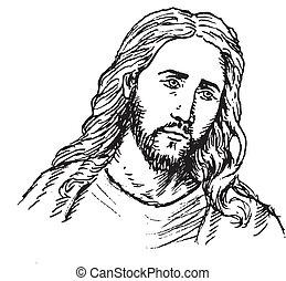 Porträt des Jesus