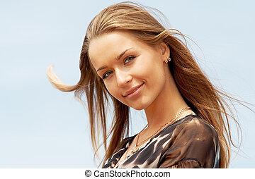 Porträt einer wunderschönen Dame