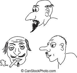 porträts, karikatur