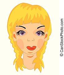 Portrait des jungen Mädchens.