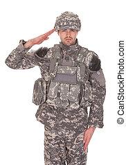 Portrait des Mannes in Militäruniform