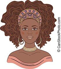 Portrait einer Afrikanerin.