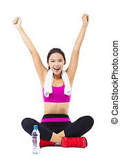 Portrait einer jungen Fitness-Frau.