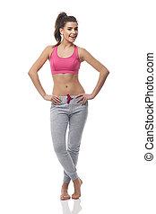 Portrait einer schönen Fitness-Frau.