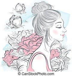 Portrait einer schönen Frau.