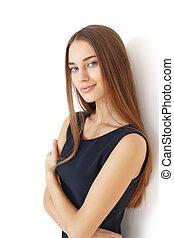 Portrait einer schönen jungen Frau.