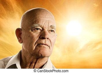 Portrait eines älteren Mannes.