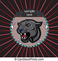 Portrait eines Panthers im Kreis