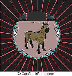 Portrait eines Pferdes.