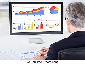 Portrait von Geschäftsleuten, die am Computer arbeiten