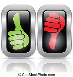 Positive negative Stimmtaste