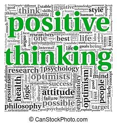Positives Denkkonzept in Tag Cloud