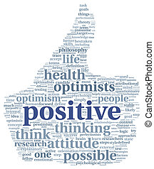 Positives Konzept in Tag Cloud