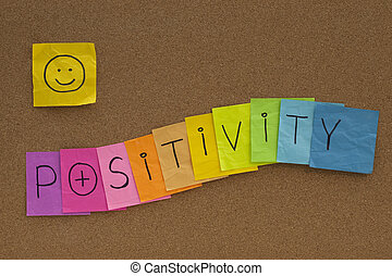 positivity, begriff, brett, smiley, kork
