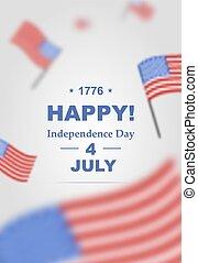 Poster für Unabhängigkeit Tag 4. Juli.