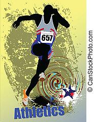 Poster Sport. Der Laufbursche