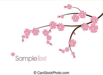 Postkarte mit japanischem Zweig