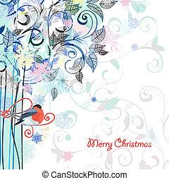 Postkartendesign mit Dekorationsbaum