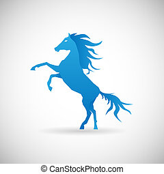 Power and strengthl symbol Pferde-Icon Design Vorlage Vektor Illustration.