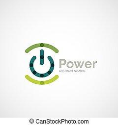 Power Button Logo Design.