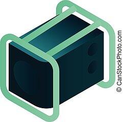 Power Generator Icon, isometrischer Stil