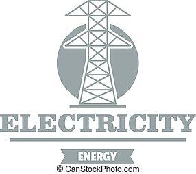 Power Station Logo, einfach grauer Stil
