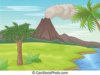 prähistorisch, landschaftsbild