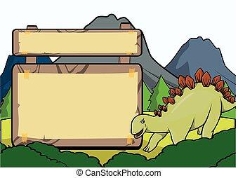 Prähistorische Tierszene mit Platzpatronen.