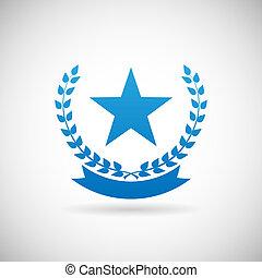 Prämierte Symbol-Symbol-Design Vorlage Vektor Illustration.