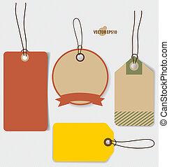 Preisschild, Gutschein, Gutschein. Vintage style template design v