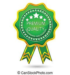 Premiumqualitätsabzeichen