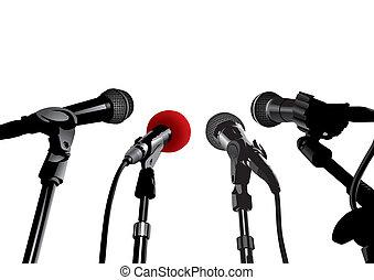 Pressekonferenz (Vektor)